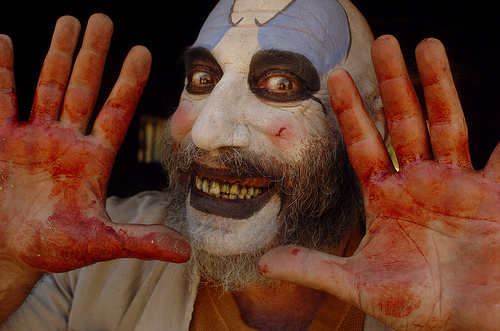 공포 영화 바탕화면 entitled Sid Haig says Smile!