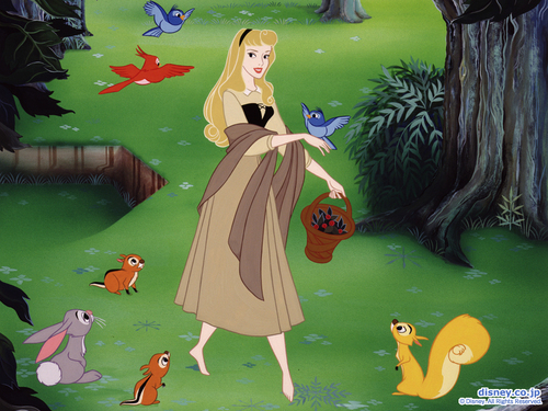 Classic Disney wallpaper entitled Sleeping Beauty Wallpaper