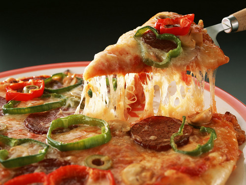Pizza wallpaper containing an antipasto titled Slice of Pizza