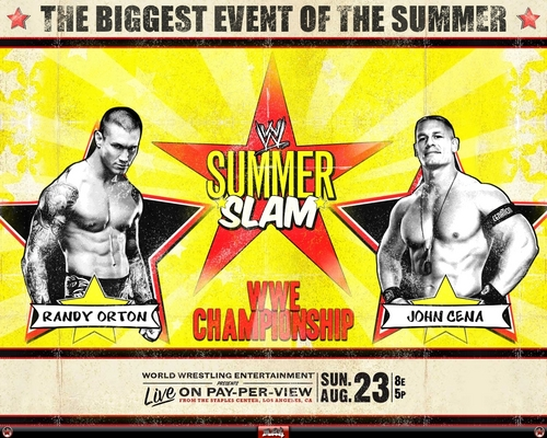 SummerSlam 09 - Orton vs Cena - wwe Wallpaper