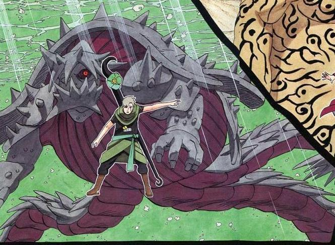 Naruto picha Three-Tailed Giant kobe, kasa karatasi la