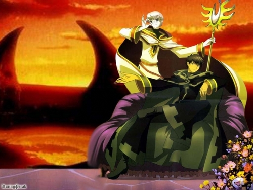 Tsubasa: Reservoir Chronicles karatasi la kupamba ukuta with a bouquet titled Toya and Yukito