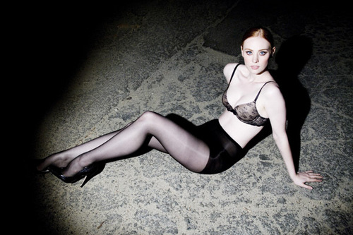 Deborah Ann Woll wallpaper probably containing a leotard, a swimsuit, and tights entitled Tyler Shields Photoshoot