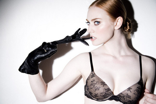 Deborah Ann Woll wallpaper probably containing a brassiere and a lingerie entitled Tyler Shields Photoshoot