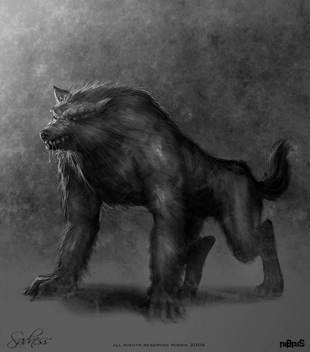 manusia serigala wallpaper titled Werewolf Drawings