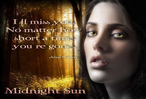 alice cullen/ midnight sun