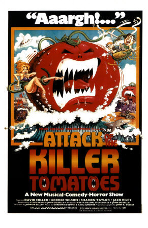 ホラー映画 壁紙 containing アニメ entitled attack of the killer tomatoes