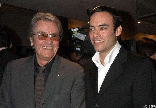 Alain Delon wallpaper probably containing a business suit and a suit called Alain and Anthony his son