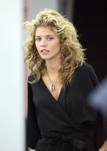 Annalynne having her hair done in Beverly Hills