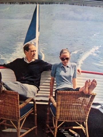 Audrey Hepburn wallpaper called Audrey and Mel enjoying a sail