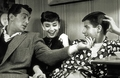 Audrey with Jerry Lewis and Dean Martin - audrey-hepburn photo