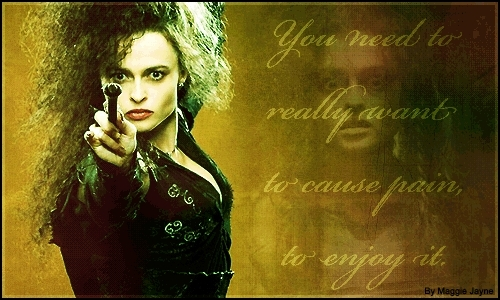 bellatrix lestrange wallpaper possibly containing a sign entitled Bellatrix Lestrange