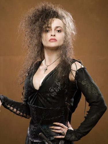Bellatrix Lestrange kertas dinding containing a bustier and a koktel dress titled Bellatrix Lestrange