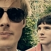 Merlin on BBC photo containing sunglasses and a portrait called Bradley James & Colin Morgan