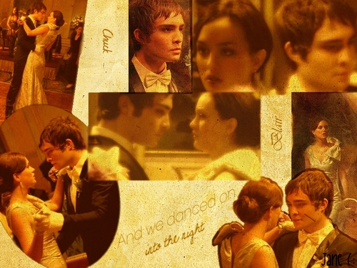 Blair & Chuck wallpaper possibly with a sign and a newspaper called CB <3 (1x10 ~ Cotilion)