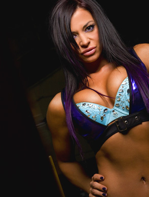 Candice Michelle achtergrond probably with a bikini, attractiveness, and a zwempak, badpak called Candice Michelle
