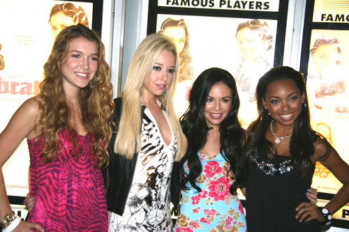 Cast of Bratz at the Canadian premiere, in Toronto.