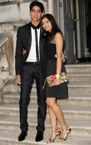 Dev Patel and Freida Pinto in London