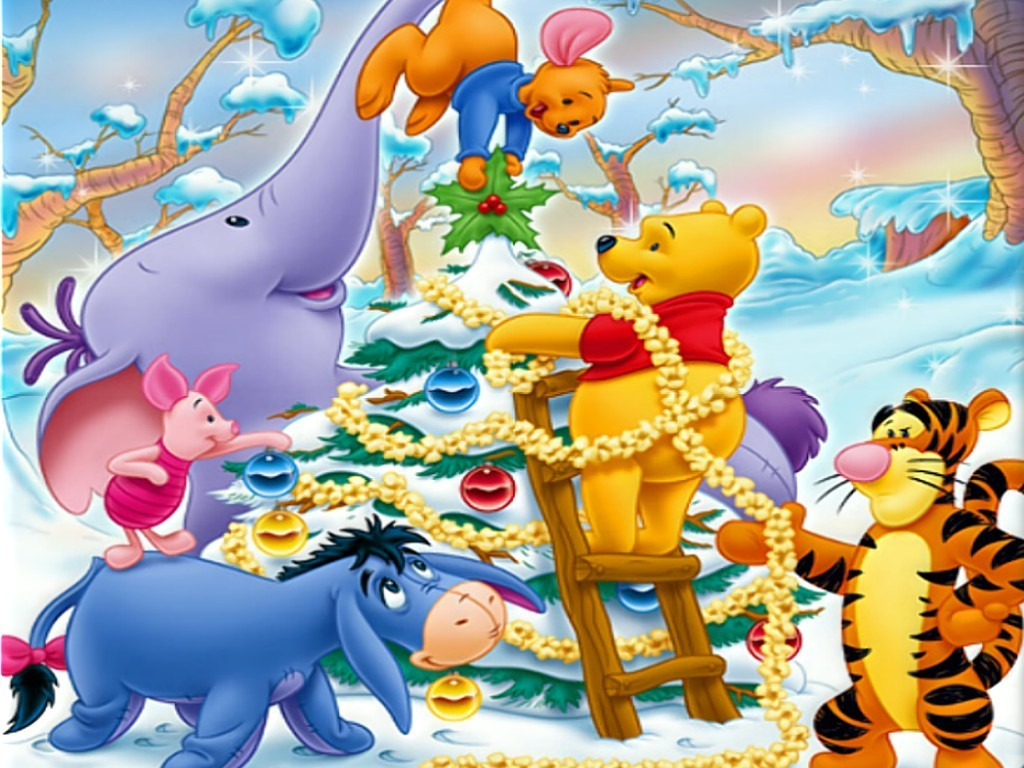 #C1940A Disney Christmas Christmas Wallpaper (7491939) Fanpop 7138 Deco De Noel Winnie 1024x768 px @ aertt.com