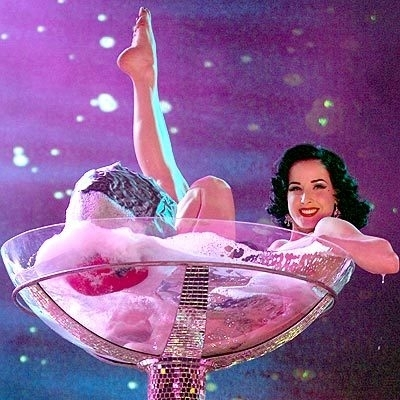 63e71d5ea00 Drinking to become Genius Hintergrund titled Dita Von Teese and the Glass