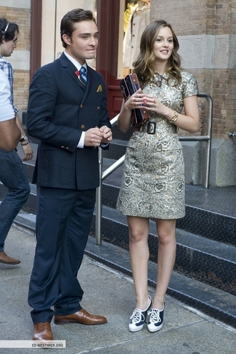Filming GG w/ Leighton