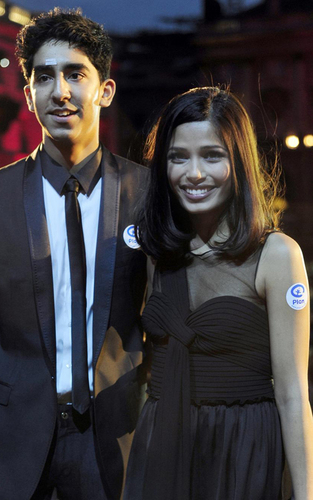 Freida pinto promoting in London