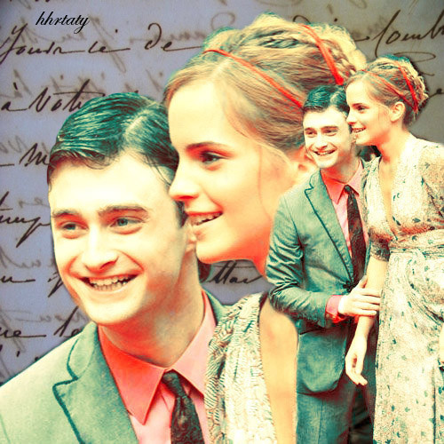 Harry and Hermione wallpaper probably containing a bouquet and a business suit titled H/Hr*
