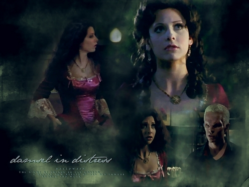 Buffy the Vampire Slayer wallpaper possibly containing a portrait called Halloween ~ Buffy(Old Fashion Girl)/Spike