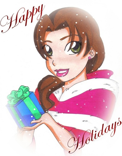 Belle wallpaper probably with anime called Happy Holidays from Belle