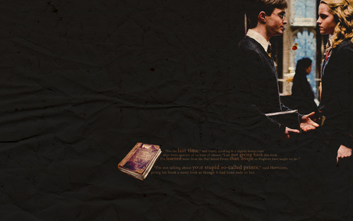 Harry and Hermione wallpaper entitled Hermione and Harry