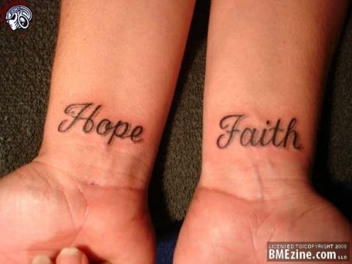 Hope and Faith Tattoo
