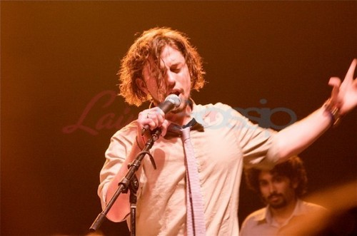 Jackson Rathbone on stage with 100 Monkeys in Dallas