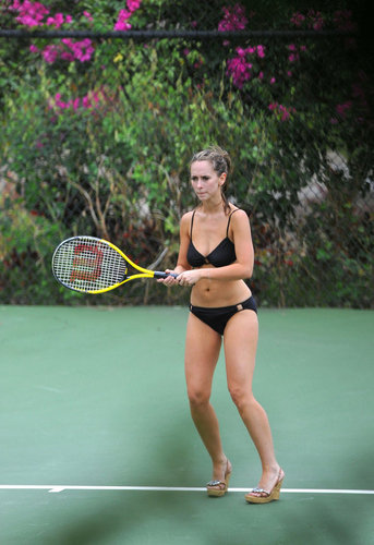 Jennifer pag-ibig Hewitt Playing tenis