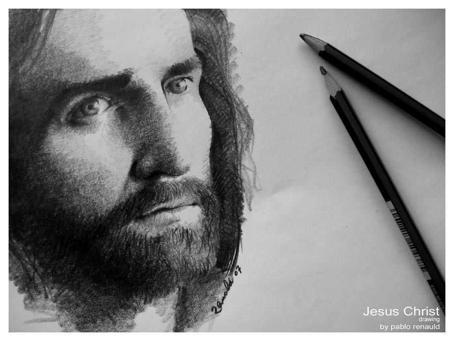 Drawings of Jesus Christ Face