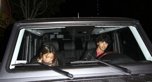 Joe and Brenda Song leave Katsuya.