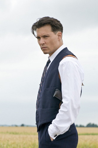 Johnny Depp wallpaper probably with a business suit titled John Dillinger - Promo Images