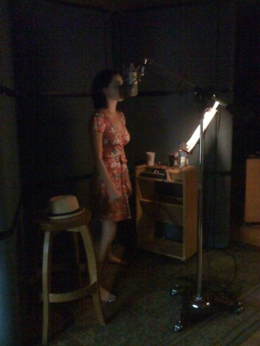 Katy in the Recording Studio