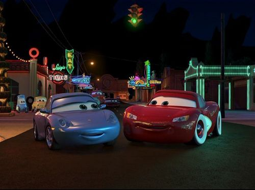 Lightning McQueen and Sally - disneys-couples Screencap