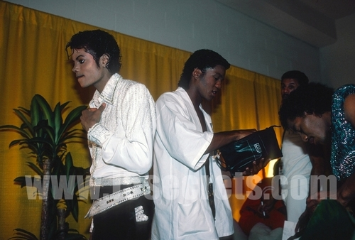 MJ (behind the stage)