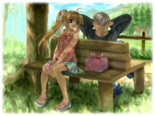 Misuzu with Yukito