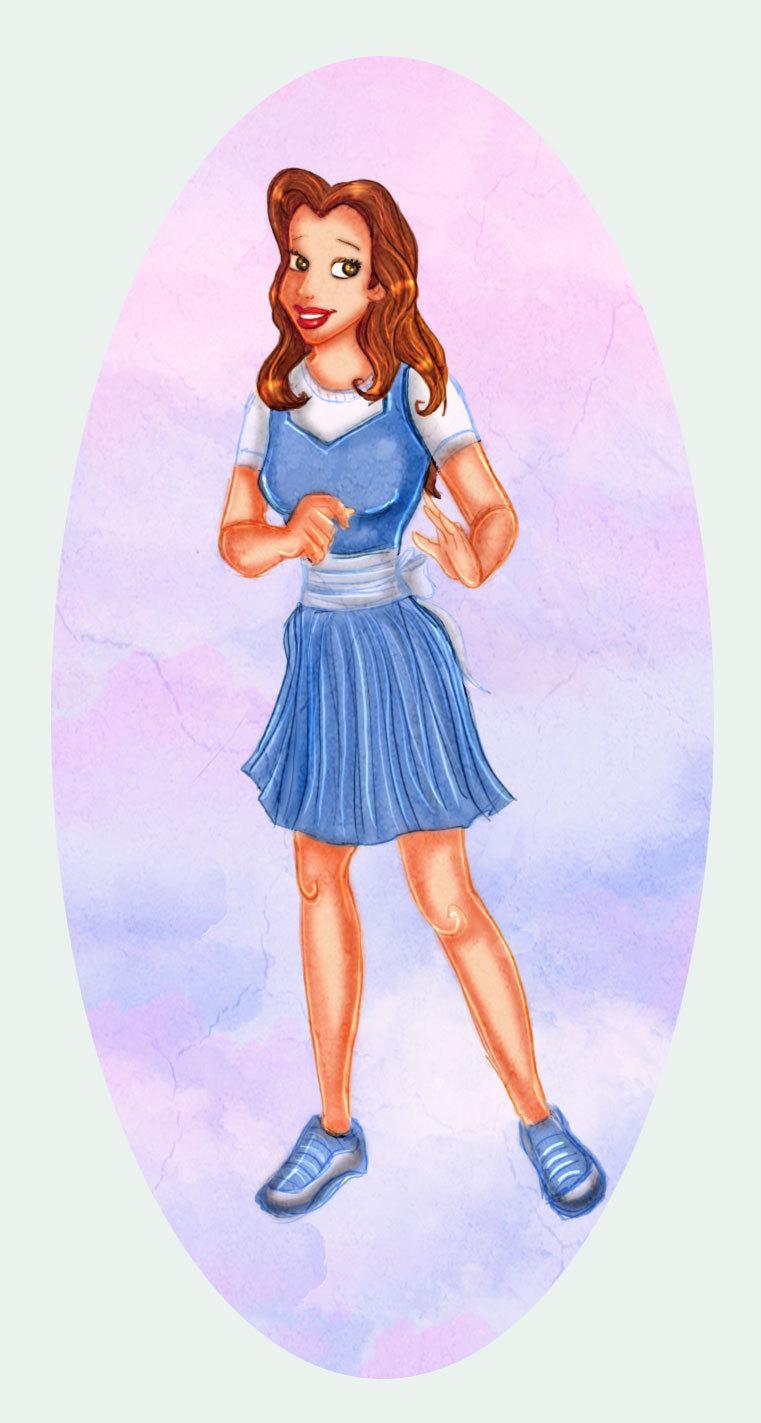 Modern disney princess belle belle fan art 7494849 fanpop