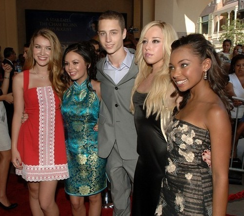 Nathalia,Janel,Chet,Skyler and Logan at premiere of Bratz LA on July 29, 2007