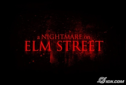 films d'horreur fond d'écran called Nightmare on Elm rue 2010 remake logo