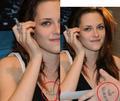 Noooo! The i <3 Rob on Kristen's chest is fake - twilight-series photo