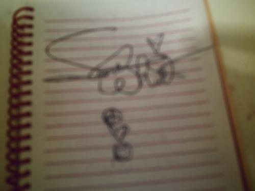 OMG! Secret Whitlock signed my notebook!!!!!