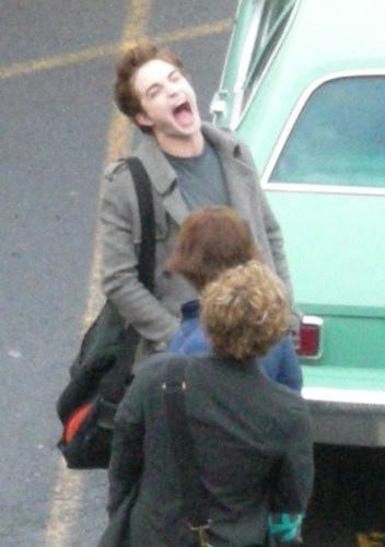 Robert Pattinson Cracking Up