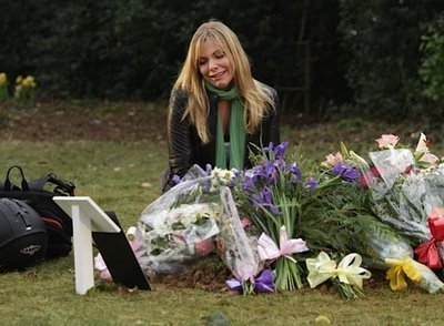 Ronnie at Danielle's grave