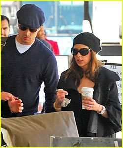 Sarah and Freddie departing from LAX airport in LA on April 24th,2007