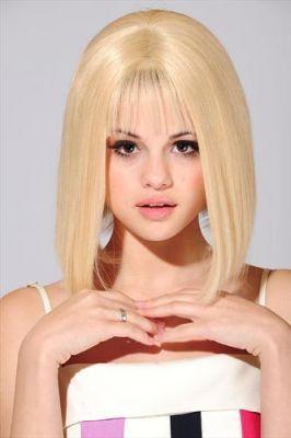 Selena blonde photoshoot