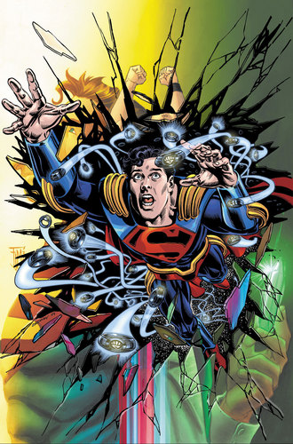 Superman Hintergrund with Anime called Superboy Prime in Adventure Comics